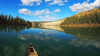 Half-Day Yukon River Canoeing Tour
