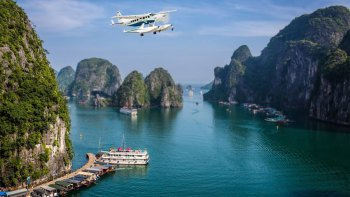 2-Day Halong Bay Tour with Seaplane Flight & Emeraude Cruise
