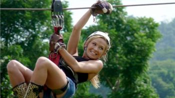 Zip lining Experience at Secret Falls Canopy Adventures