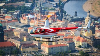 City Helicopter Flight to Semperoper, Zwinger Palace & Frauenkirche