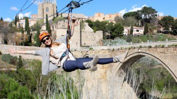 Combo Experience: Self-Guided Day Trip of Toledo with Zipline Admission
