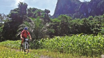 Full-Day Mountain Biking & Kayaking Tour with Cave Visit & Lunch