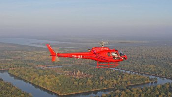 Guided Siem Reap Helicopter Tour with Angkor Wat & Tonle Sap