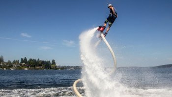 Flyboarding on Odell Lake