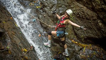 Upstream Waterfall Climb, Sky Bridge & Zipline Excursion