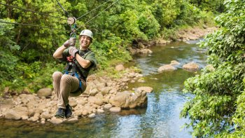 Rainforest Adrenaline Junkie Tour with Ziplining & Waterfall Climb