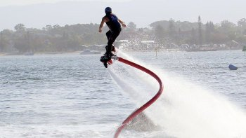 Flyboarding on Blue Mesa Reservoir