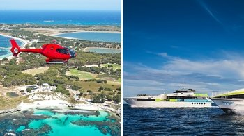 Rottnest Island Private Helicopter Flight & Ferry Cruise