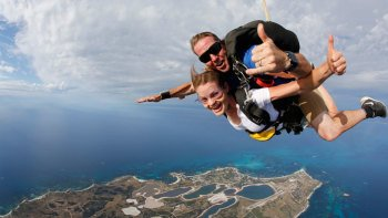 Rottnest Island Tandem Skydive Experience with Perth Pickup