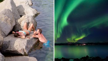 Chena Hot Springs with Ice Museum Tour & Northern Lights Viewing