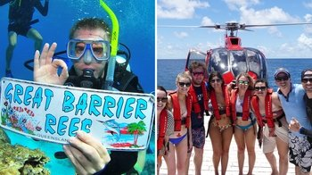 Full-Day Outer Great Barrier Reef & Helicopter Flight Package