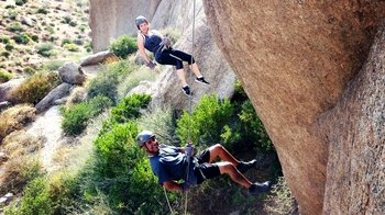 Rappelling at McDowell Mountains