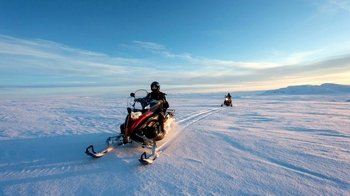 Guided Golden Circle Tour & Langjökull Snowmobiling Experience