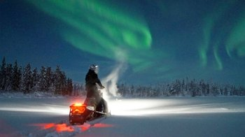 Northern Lights Snowmobile Safari