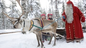 Santa Claus Village & Snowmobiling to a Reindeer Farm with Sleigh Ride