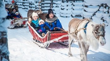 Lapland Reindeer Sleigh Ride with Festive Snacks