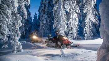 Nighttime Snowmobile & Northern Lights Tour