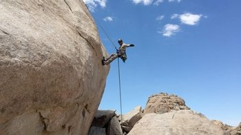 Rappelling Adventure in Joshua Tree