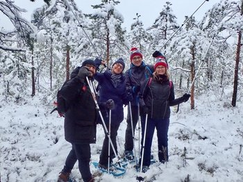 Small-Group Guided Snowshoe Hike to Trakai Island Castle