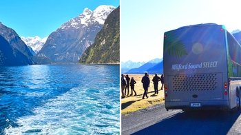 Luxury Coach Tour to Milford & Scenic Milford Sound Cruise