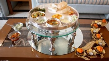 Private Traditional Gujarati Thali Lunch in a with Pallavi