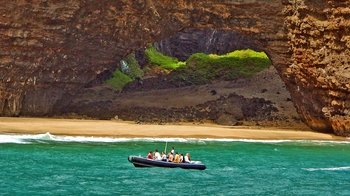 Na Pali Coast Rafting with Beach Landing & Snorkelling