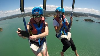 Tandem Parasail Flight over the Bay of Islands