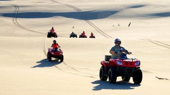 Worimi Sand Dunes Quad bike Ride, Aboriginal Culture & Sandboarding Tour