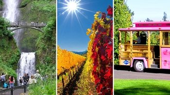 Multnomah Falls, Willamette Valley & Trolley Combo Tour with Winetasting