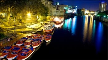 Floodlit Nighttime Cruise on the River Ouse