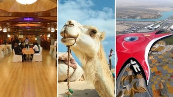 Desert Safari, Ferarri World & Dhow Dinner Cruise