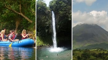 Safari River Float with Hike to La Fortuna Waterfall & Arenal Volcano