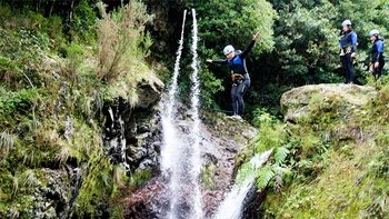 Guided Beginner Canyoning Experience in Ribeiro Frio