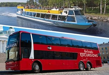 Combo Tour: Panorama Sightseeing Bus & Canal Cruise