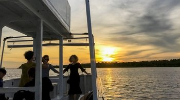 Guided Evening Cruise in Weston Wetland Park with Buffet Dinner