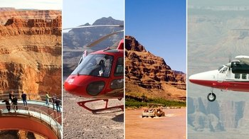 Grand Canyon West Airplane, Helicopter & Boat Tour with Optional Skywalk