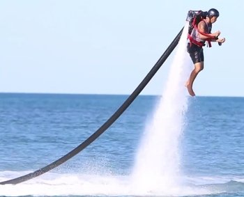 Jet Pack Adventure at Exmouth Town Beach