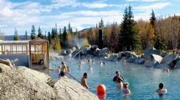 Evening at Chena Hot Springs Resort