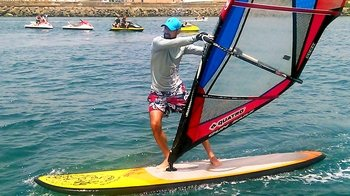 Beginner Windsurfing Lesson at Maspalomas Beach