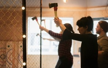 One Hour Axe Throwing Experience - Learn to Throw