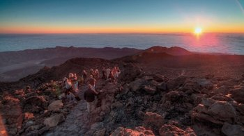 Mount Teide Cable Car Ride & Hike at Sunset with pick-up