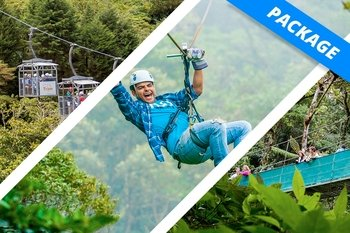 Adventure Package - Ziplines, Aerial Tram & Hanging Bridges