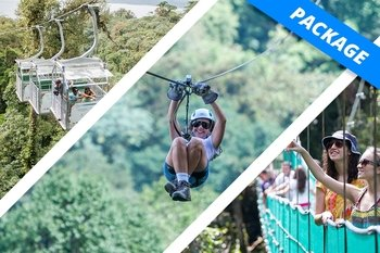 Adventure Package with Zip lines, Aerial Tram & Hanging Bridges