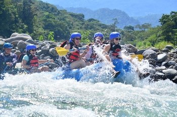Upper Sarapiqui Class IV Extrem Rafting from Arenal Volcano