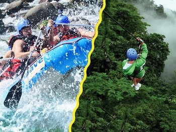 Zipline and Rafting Combo
