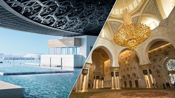 Louvre Museum Abu Dhabi & Grand Mosque Tour from Dubai