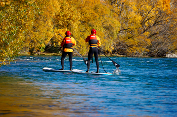 Advanced Stand Up Paddle Boarding on the Clutha River
