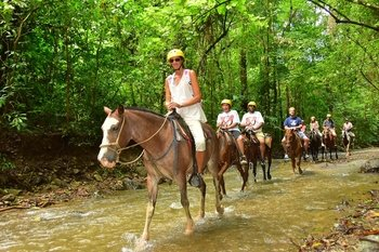 Horseback Riding with Waterfalls near Jaco Beach
