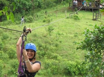 Private 1-Day Ziplining Tarzan Swing & Hot Springs Adventure