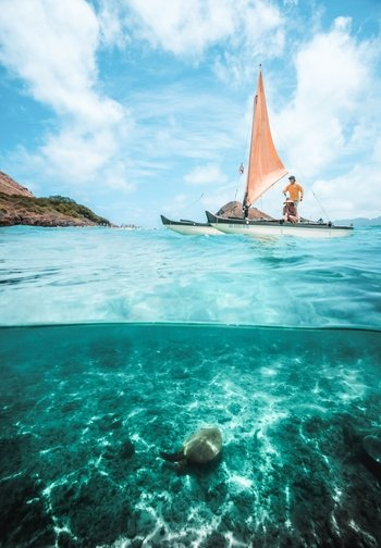 Hawaiian Sailing Canoe Adventure to Mokulua Islands